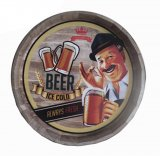 Wall decoration Beer ice cold in wood