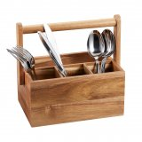 Bess Cutlery holder acacia wood