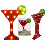 Cocktail Lamp red / green with LED lights