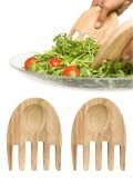 Salad servers in oak