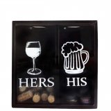 "Cork and cap box ""Hers - His"""