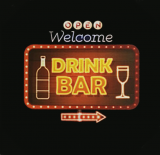 Bar Led sign - Open Welcome Drink Bar