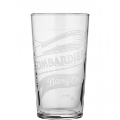 Bombardier beer glass pint