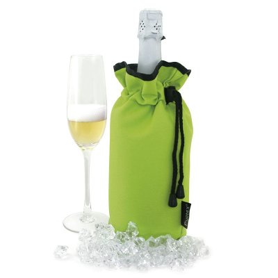 Champagne cooler bag lime green Pulltex
