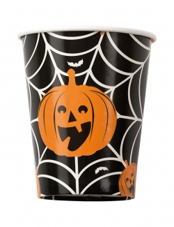 Halloween pappersmugg 8-pack