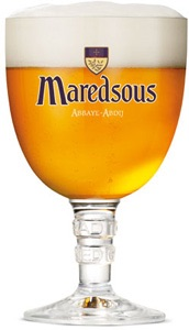 Maredsous beer glass 33 cl