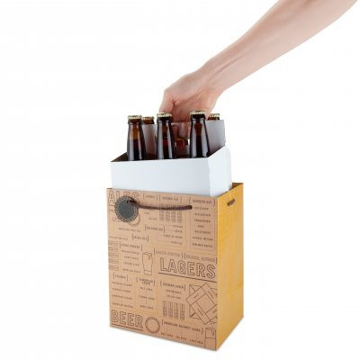 Gift bag for beer bottles