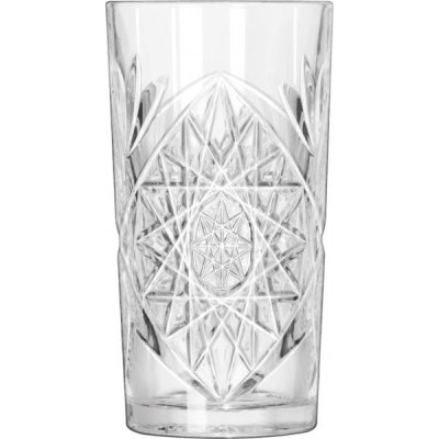 Hobstar highball glass