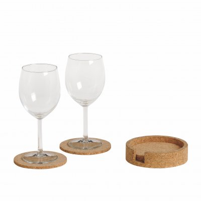 Glasunderlägg Kork coasters med holder6-pack