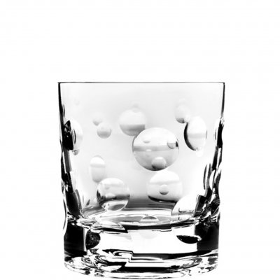 Roterande whiskyglas bubble