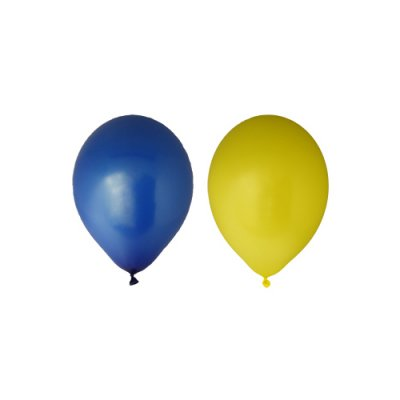 Balloons blue/yellow 12-pack