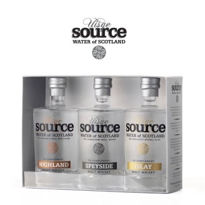 Uisge Source whisky water 3-pack