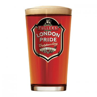 Fullers London Pride ölglas 50 cl fullt