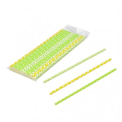 Straws paper citrus 24-pack