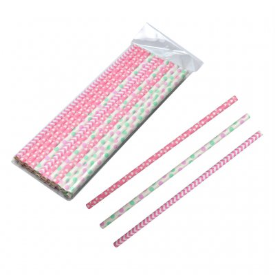 Straws paper pastel 24-pack