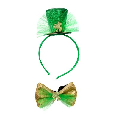 Top Hat headband and bow tie ST. Patrick