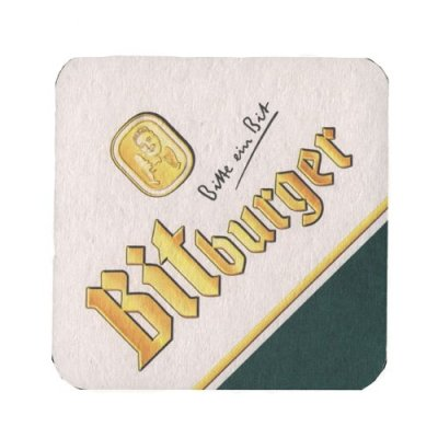 Bitburger coasters 6-pack