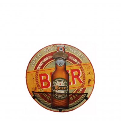 Wall mounted cap opener - Beer Bottle