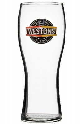 Weston cider glass pint